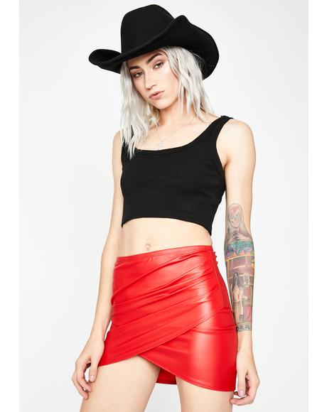 Flame Rock Babe Ruched Skirt