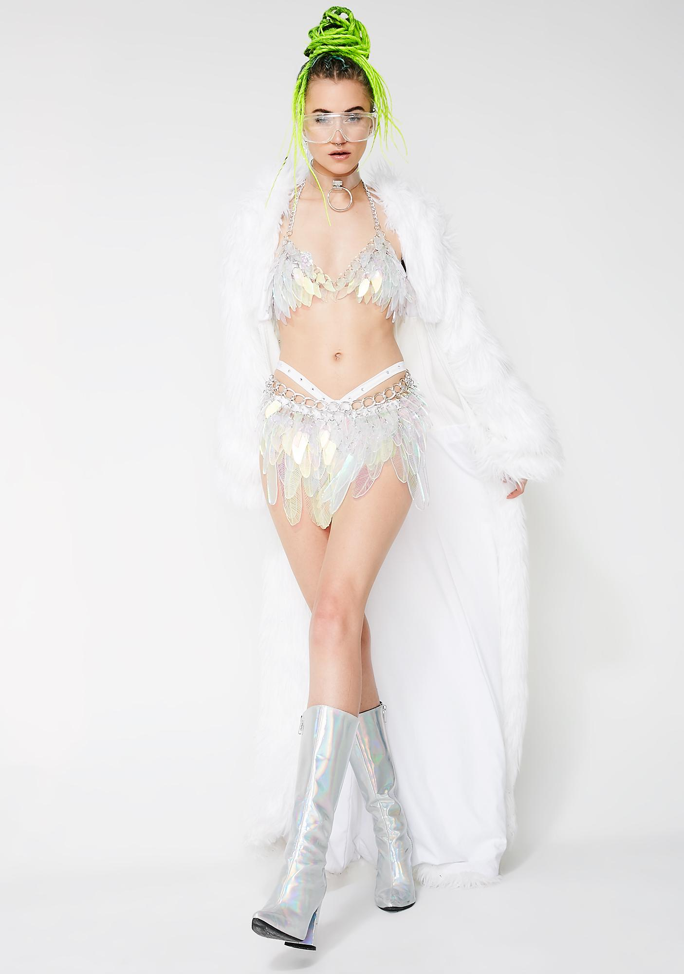 Electric Candy Couture Lit Feather Bra