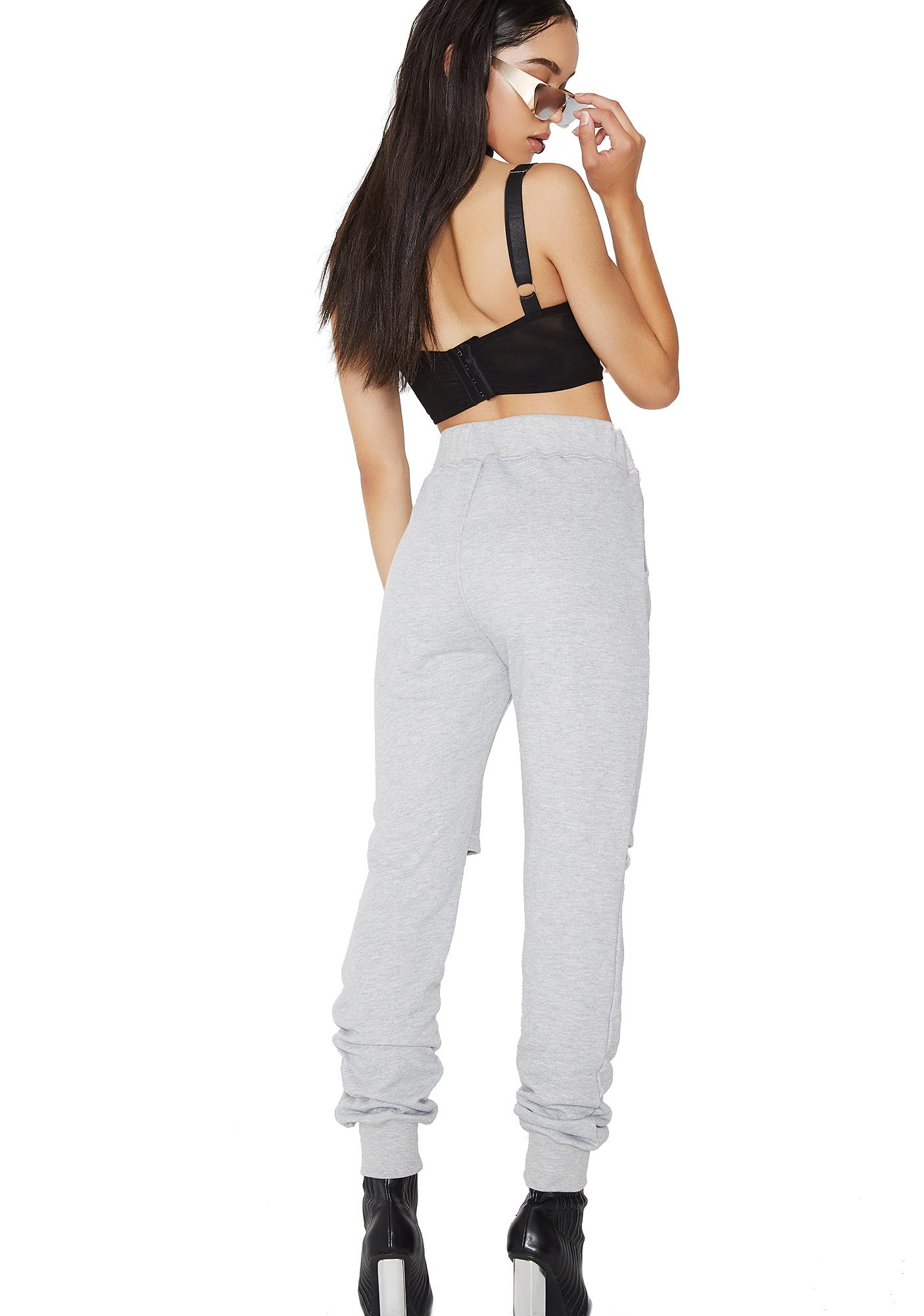 Poster Grl No Warning Distressed Joggers