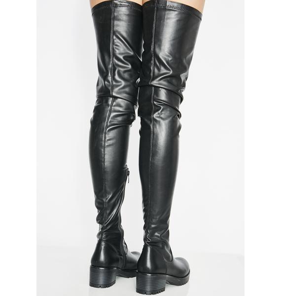 AZALEA WANG Surgical Thigh High Boots