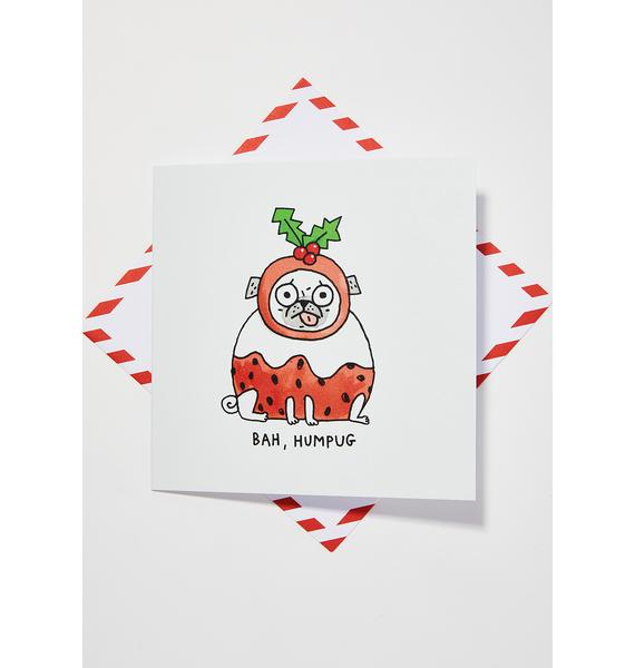 Ohh Deer Bah Humpug Christmas Card
