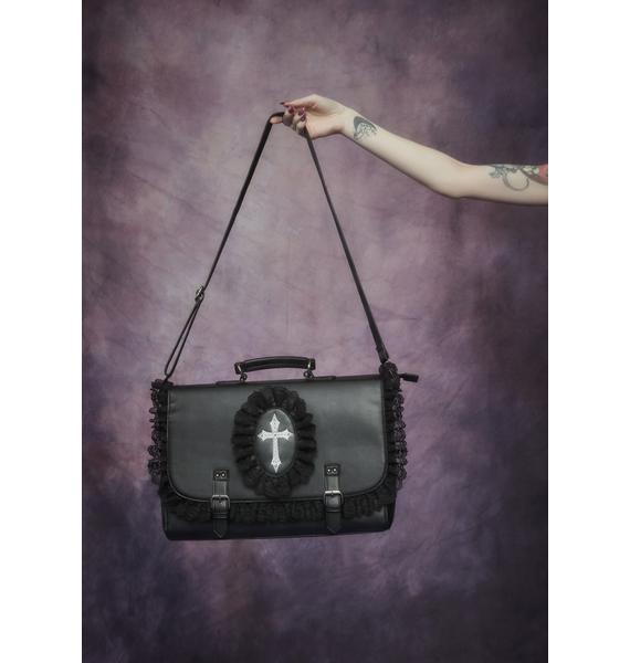 Widow Infernal Blessing Gothic Satchel Bag