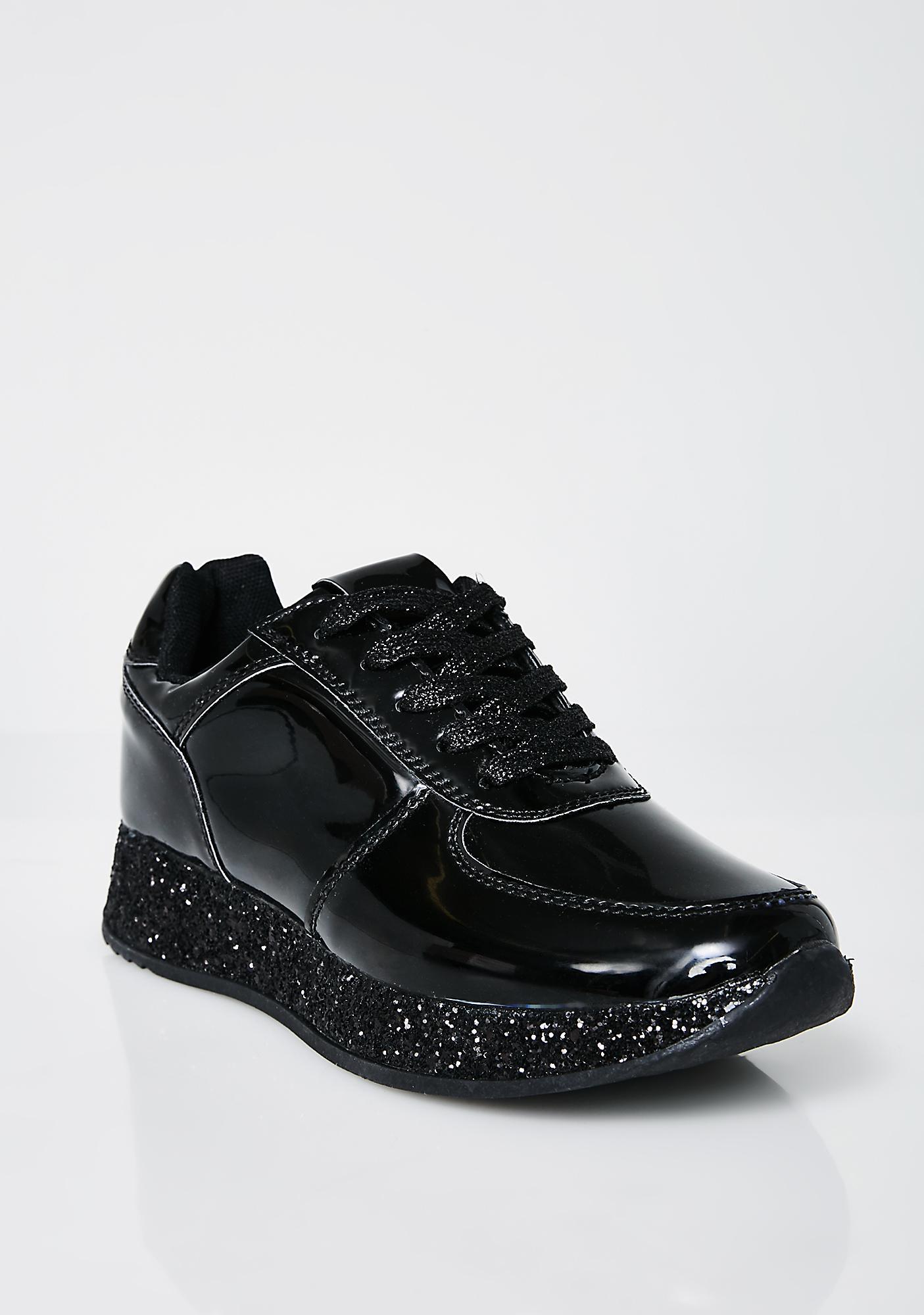 Walking On Glitter Platform Sneakers