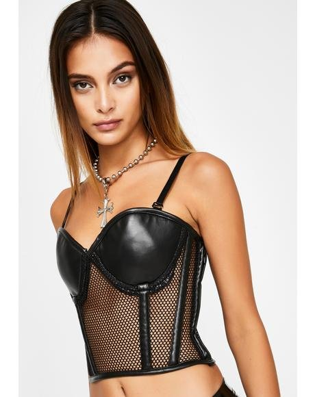 Lavish Fishnet Bustier