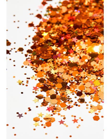 Rose Gold Chunky Glitter