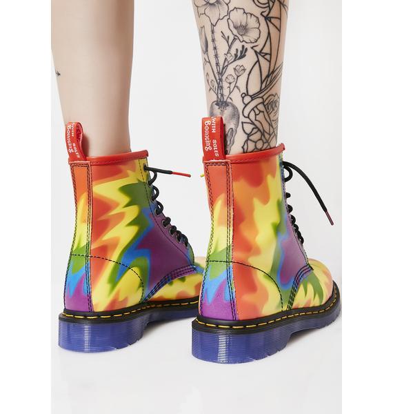 Dr. Martens 1460 Pride Tie-Dye Boots
