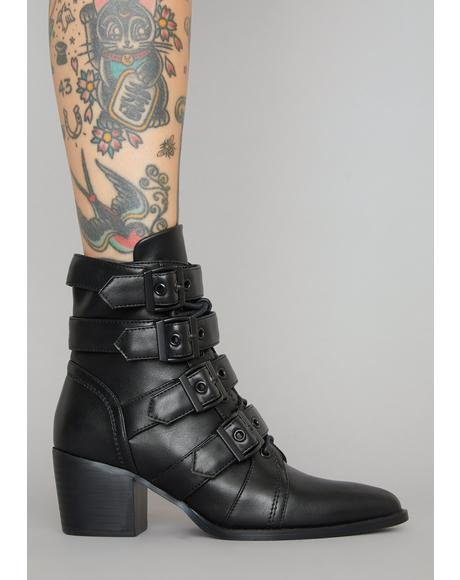 Divine Oblivion Buckle Boots