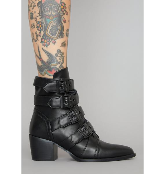 Widow Divine Oblivion Buckle Boots