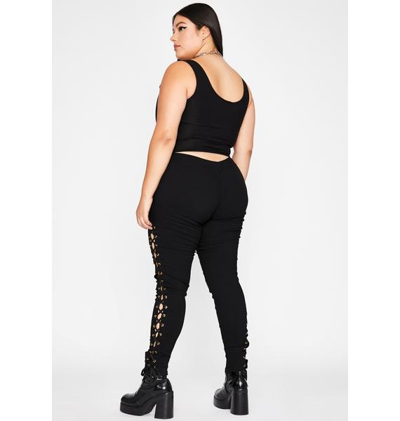 Whip It Lace Up Leggings