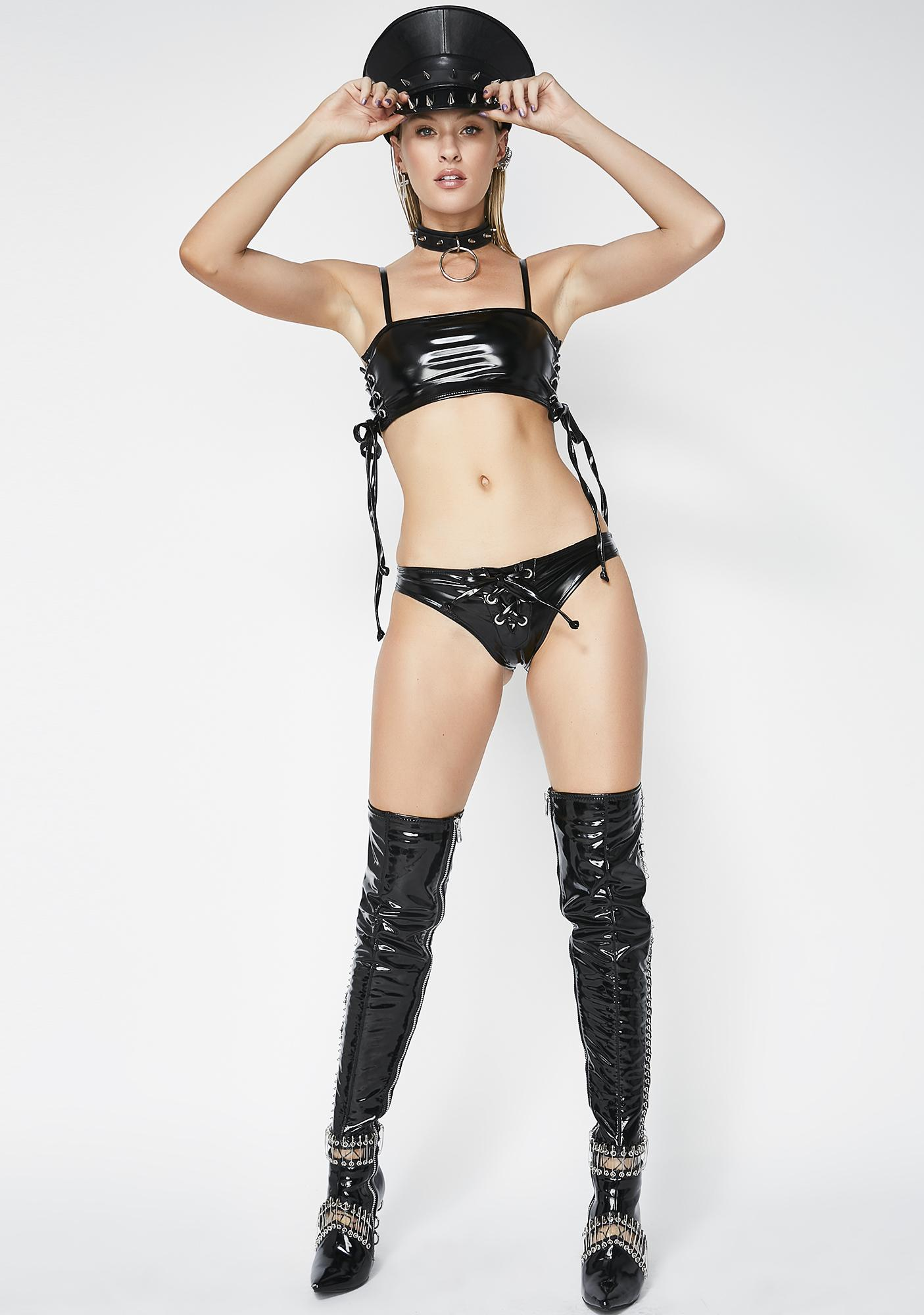 Dark Come Undone Lace-Up Set