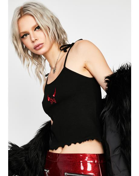 Shy Devil Cropped Cami