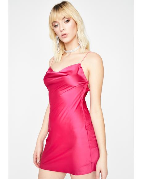 Sweet Evening Appeal Satin Dress