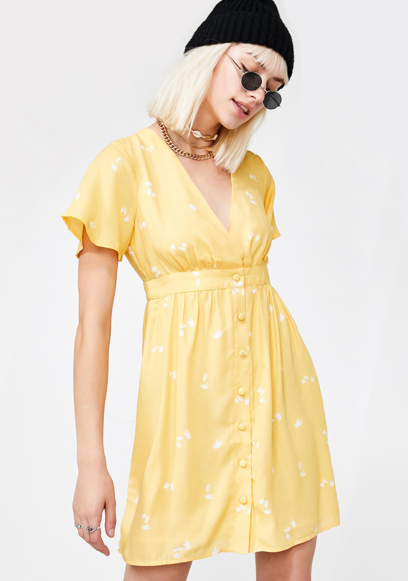 Sun Nectar Floral Dress