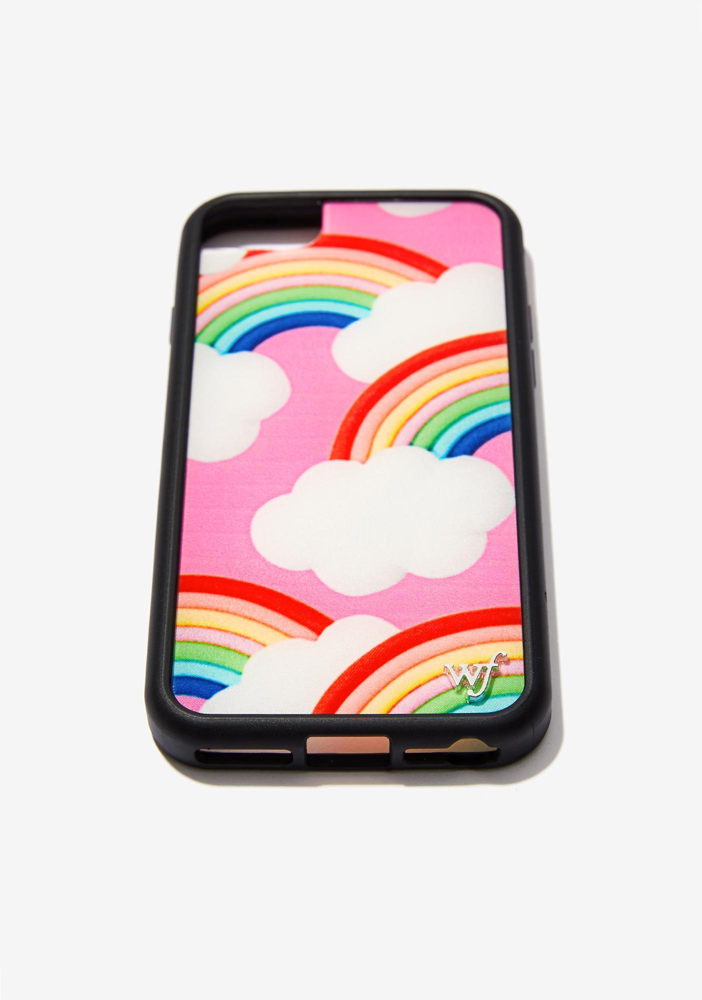 Wildflower Rainbow Clouds iPhone Case