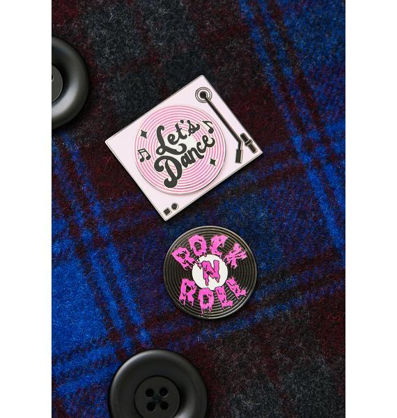 MALA Pink Record Enamel Pin Pack