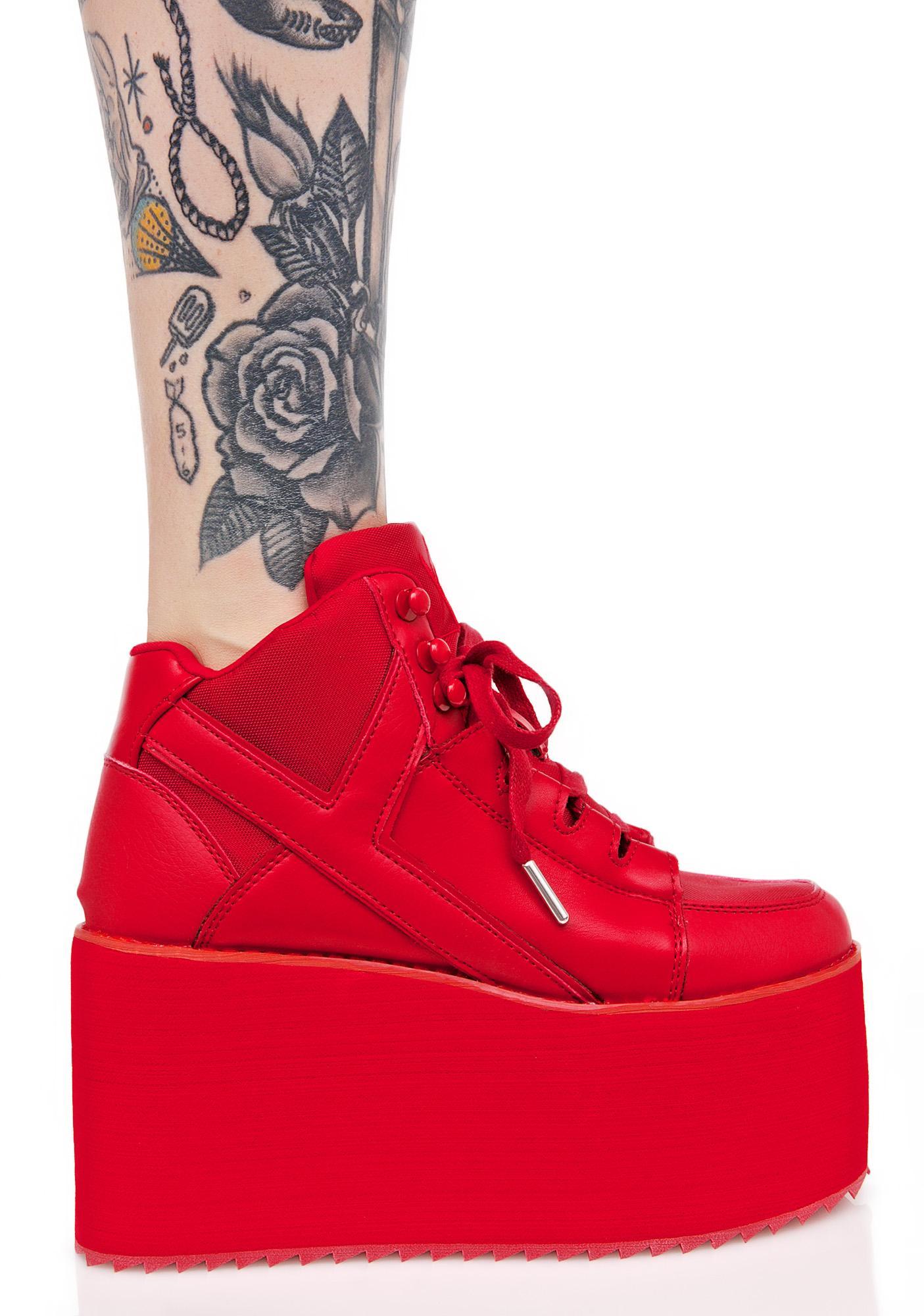12066dcb42b ... Y.R.U. Redd Hot Qozmo Platform Sneakers ...