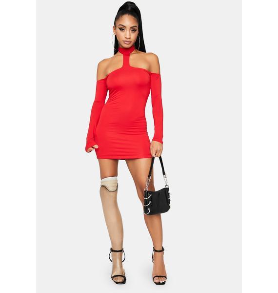 Crimson Look This Good Mini Dress