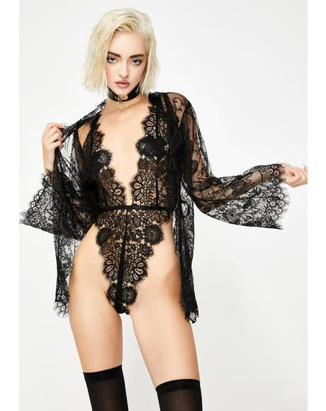 Ravishing Reverie Lace Robe Set