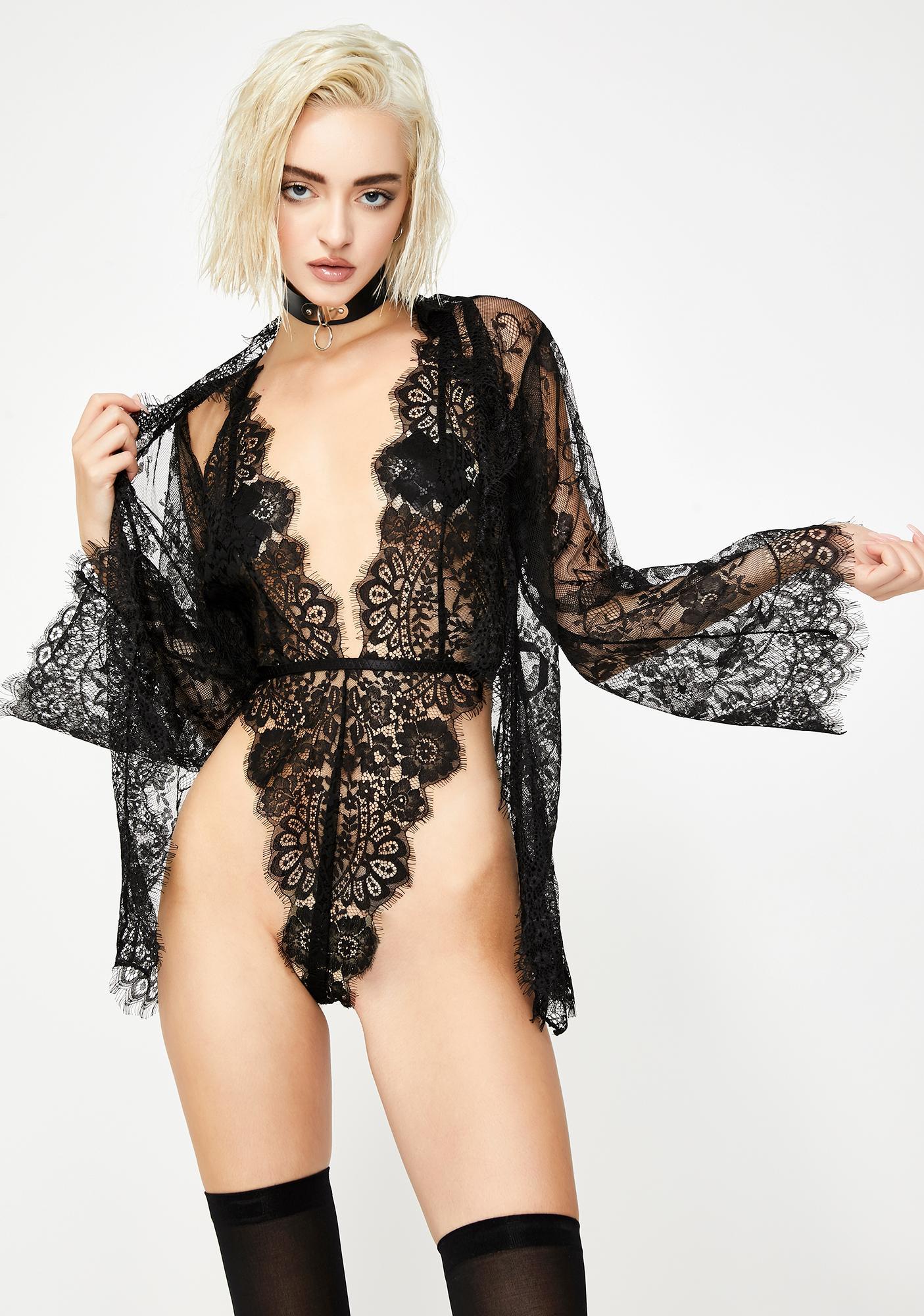 Ravishing Reverie Lace Robe Set