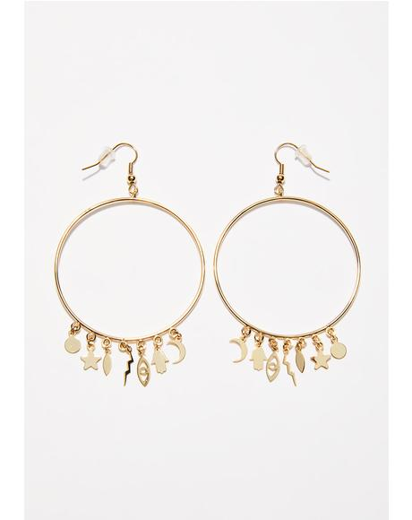 Mystic Spells Hoop Earrings
