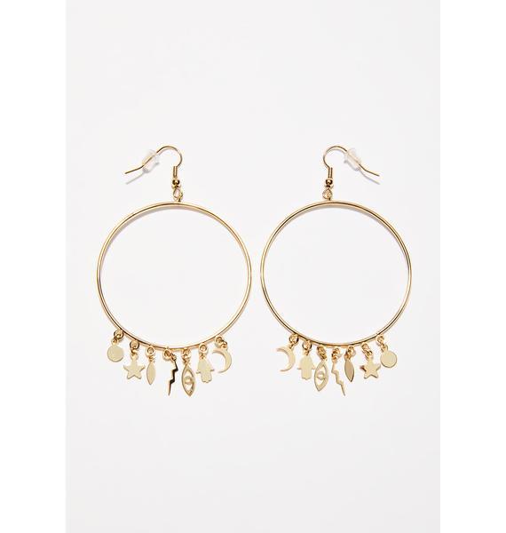 Mystic Spells Hoop Earrings
