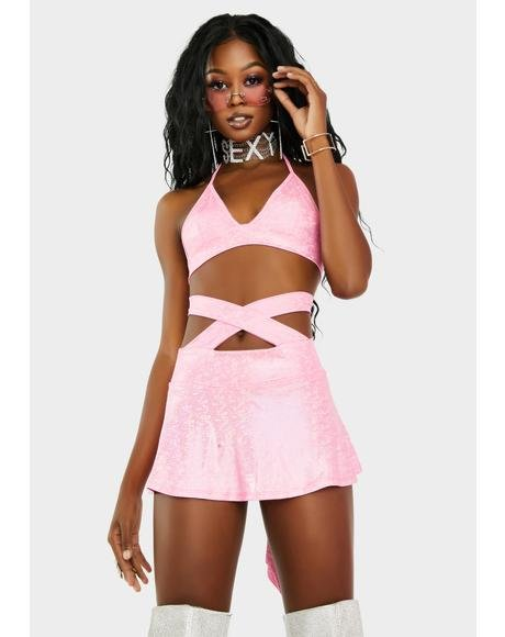 Baby Born To Slay Skirt Set