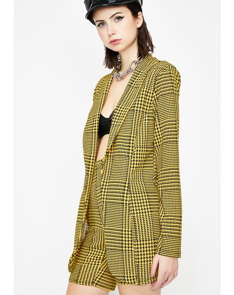 Chic Mon Cheri Plaid Set
