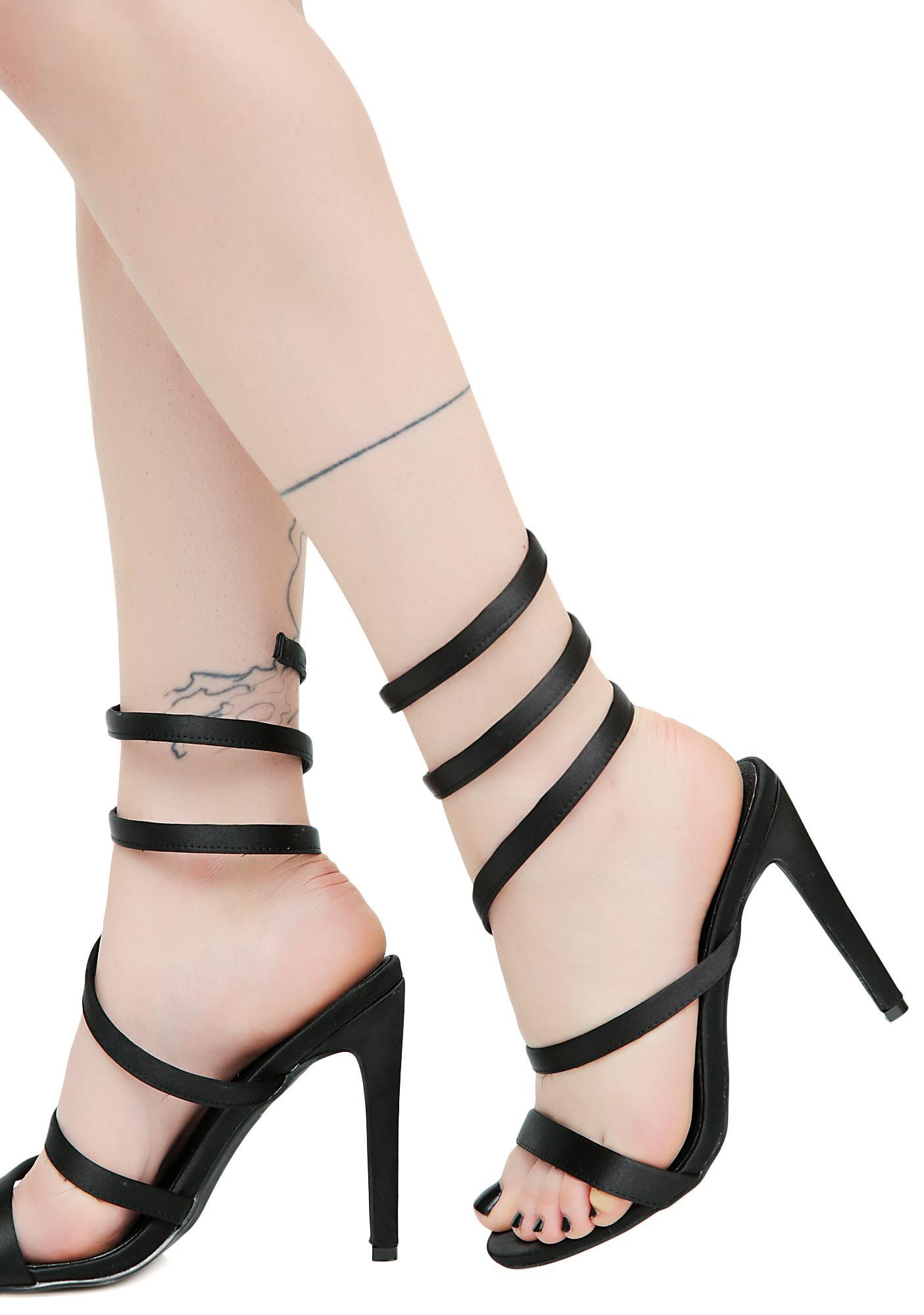 Dark Sinister Slither Wrap Heels