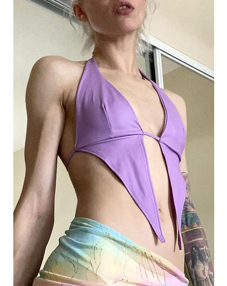 Pixie Getting Even Halter Top