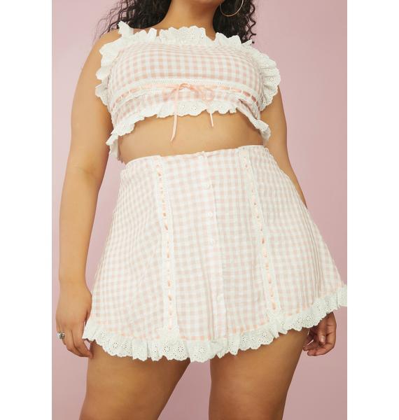 Sugar Thrillz My Slice Of Heaven Gingham Mini Skirt