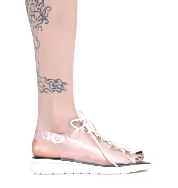 Smartypants Clear Sandals
