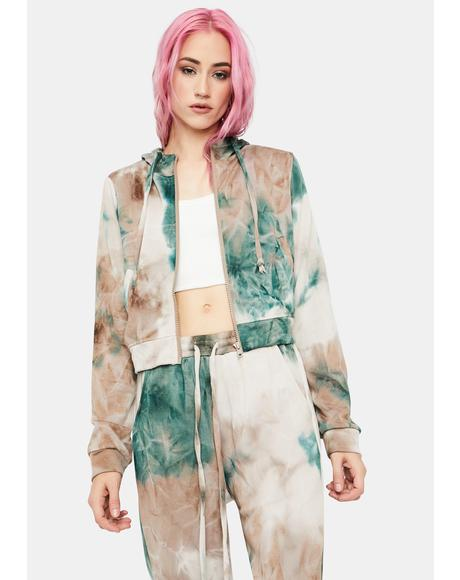 Forest Totally Radical Tie Dye Shorts And Jacket Set