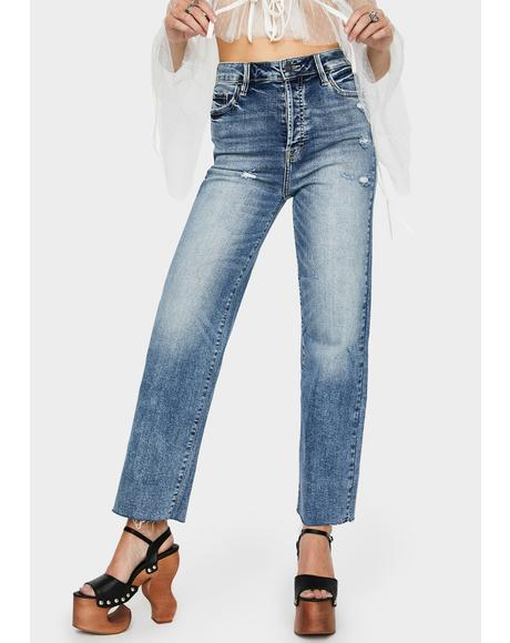 Tracey Distressed Mom Jeans