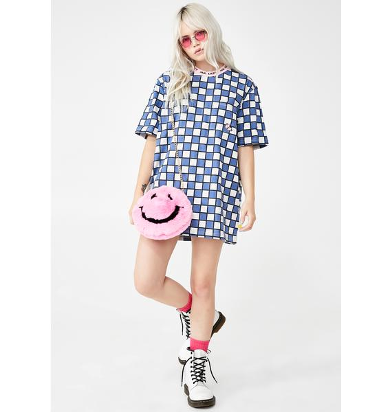 Lazy Oaf Mr Lazy Check Graphic Tee