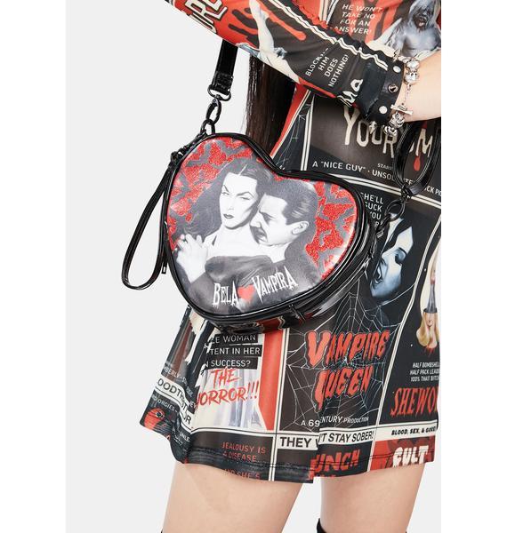 Kreepsville 666 Bela Loves Vampira Mini Heart Purse