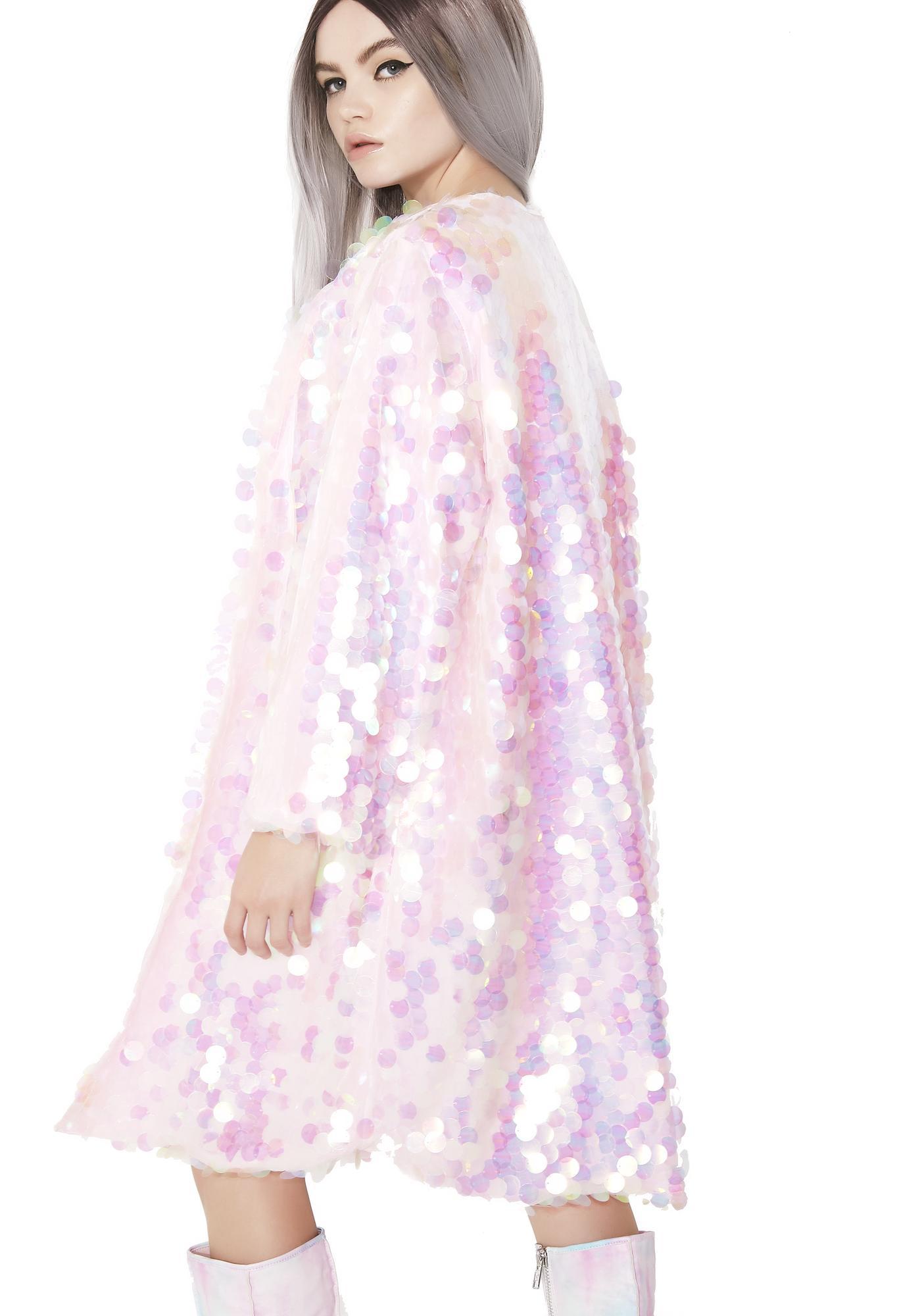 B Glittz Iridescent Sequin Kimono