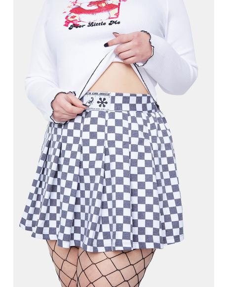 Curve Checkerboard Skirt