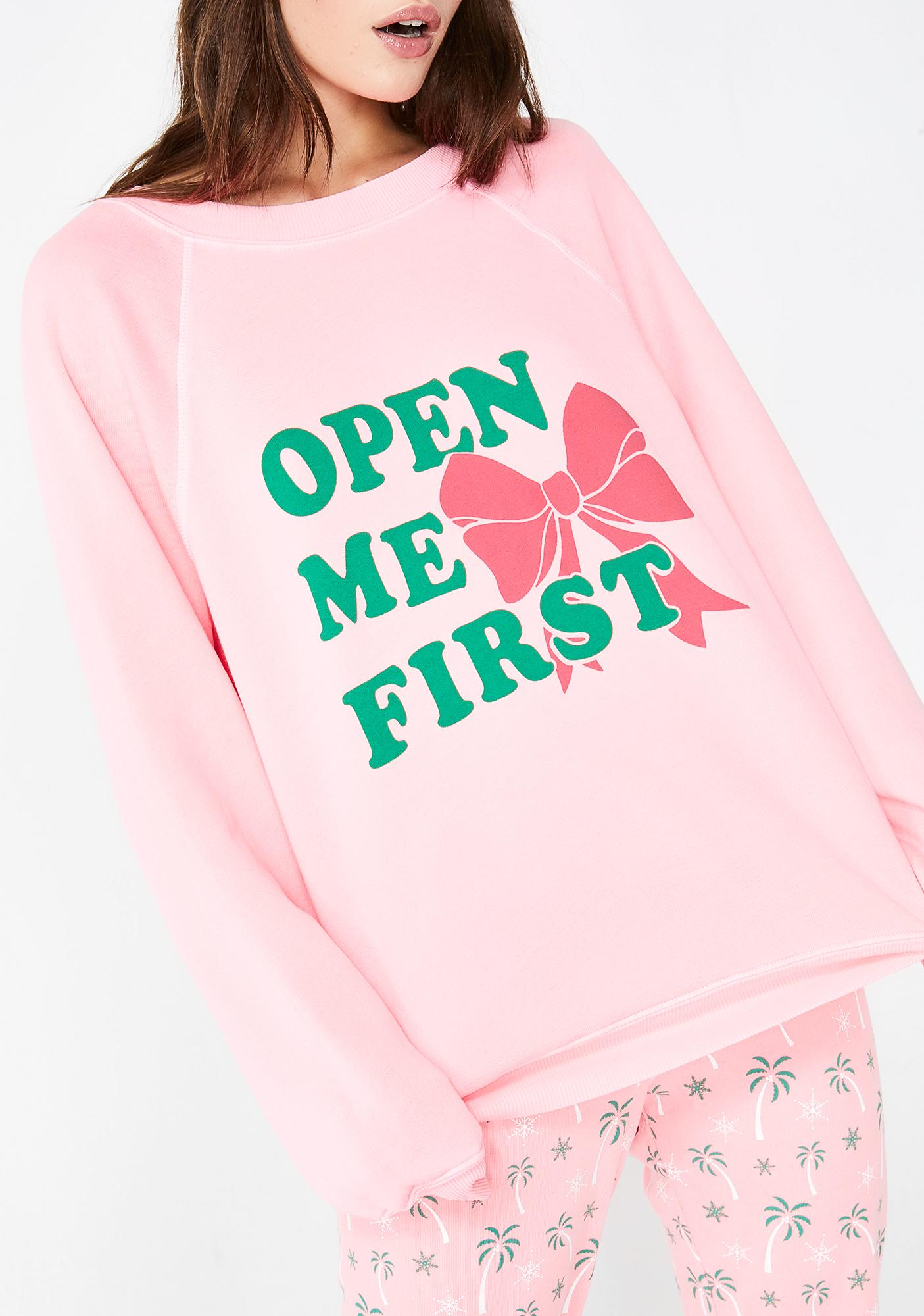 Wildfox Couture Open Me First Sommers Sweater