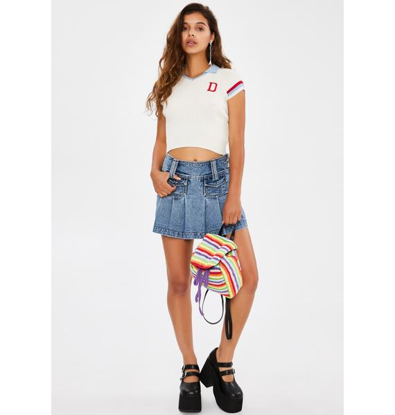 dELiA*s by Dolls Kill Hit The Books Polo Top