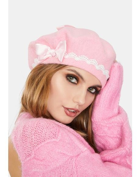 Blush Own The Scene Bow Beret