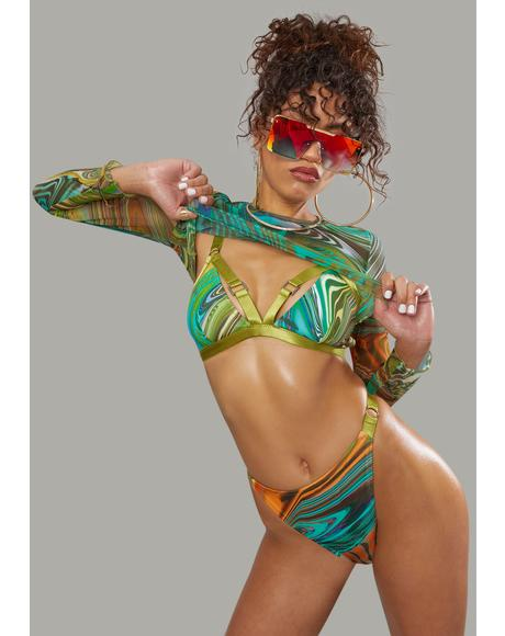 Hypnotic Habits 3-Piece Bikini Set