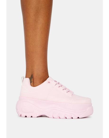 Bubblegum Soar High Platform Sneakers