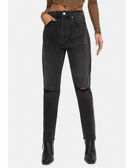 Keaton High Rise Straight Jeans