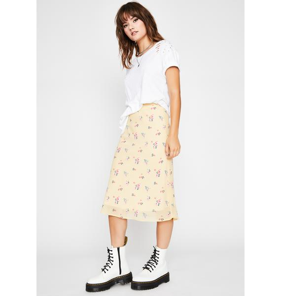 Sunny Fields Of Love Floral Skirt