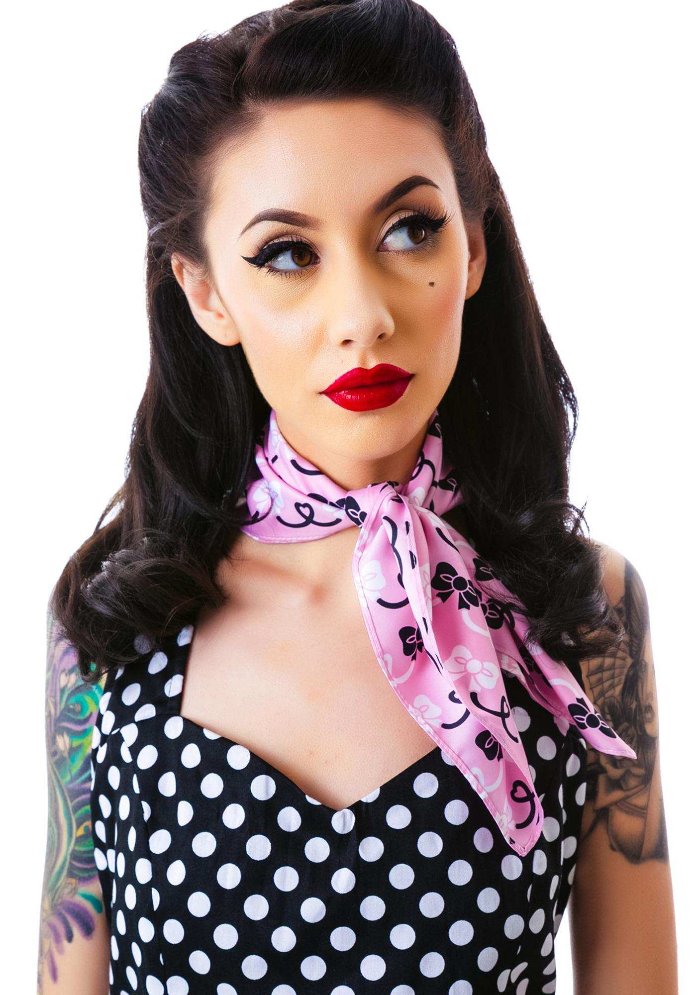Sourpuss Clothing Rosie Bows Scarf