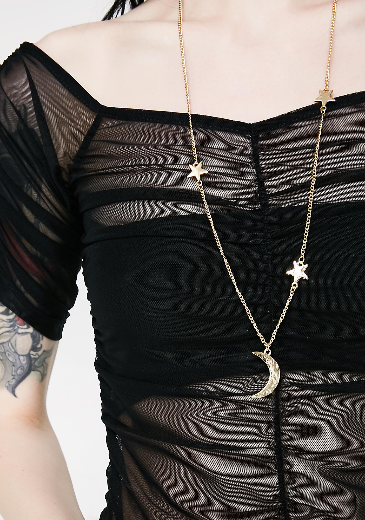 Mystic Moon Babe Necklace