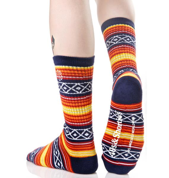 40s & Shorties Tex Mix Baja Crew Socks
