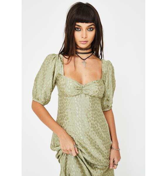 Motel Green Millo Midi Dress