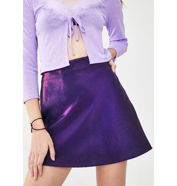 dELiA*s by Dolls Kill Pop Icon Iridescent Skirt