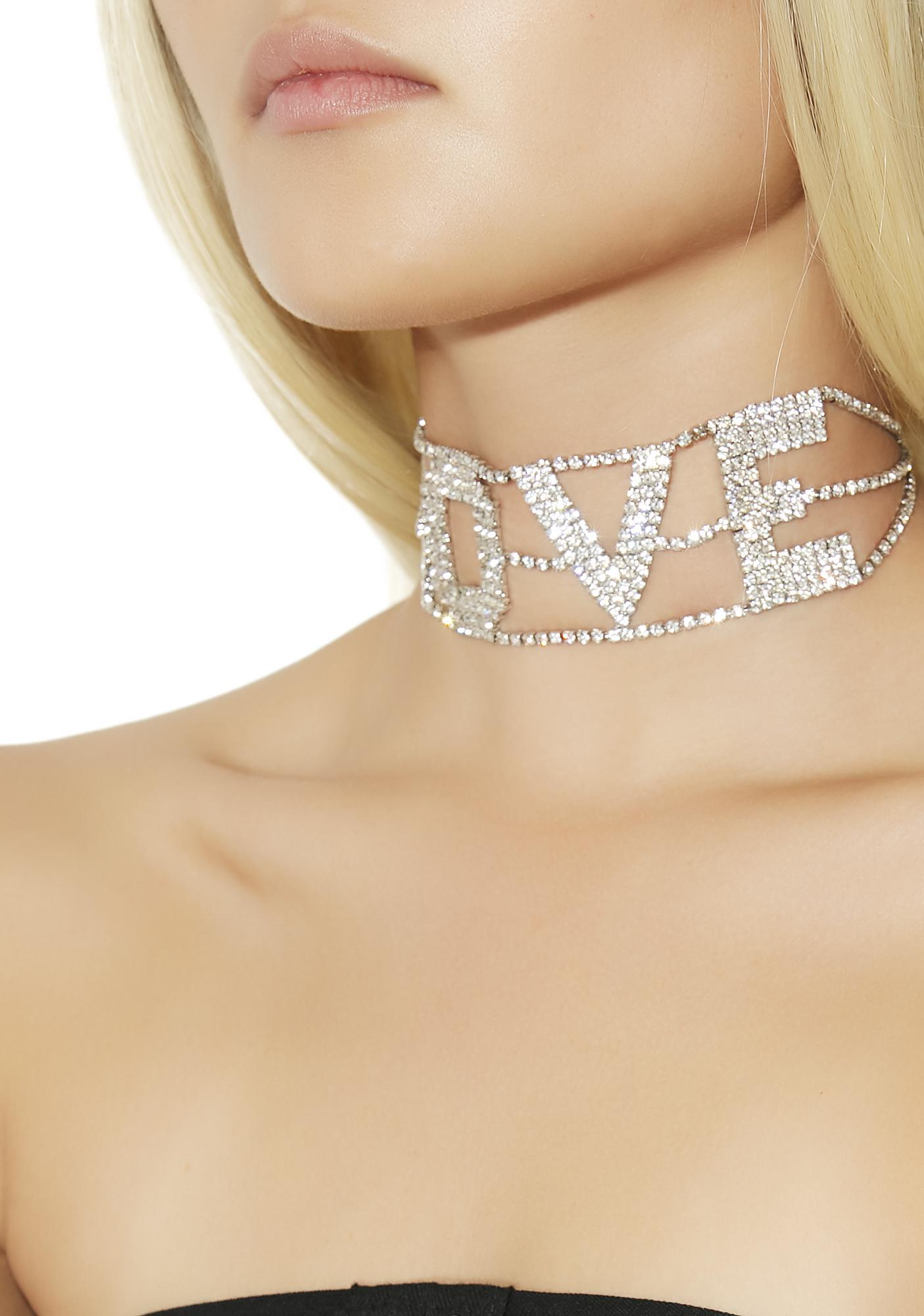Everybody Say Love Rhinestone Choker